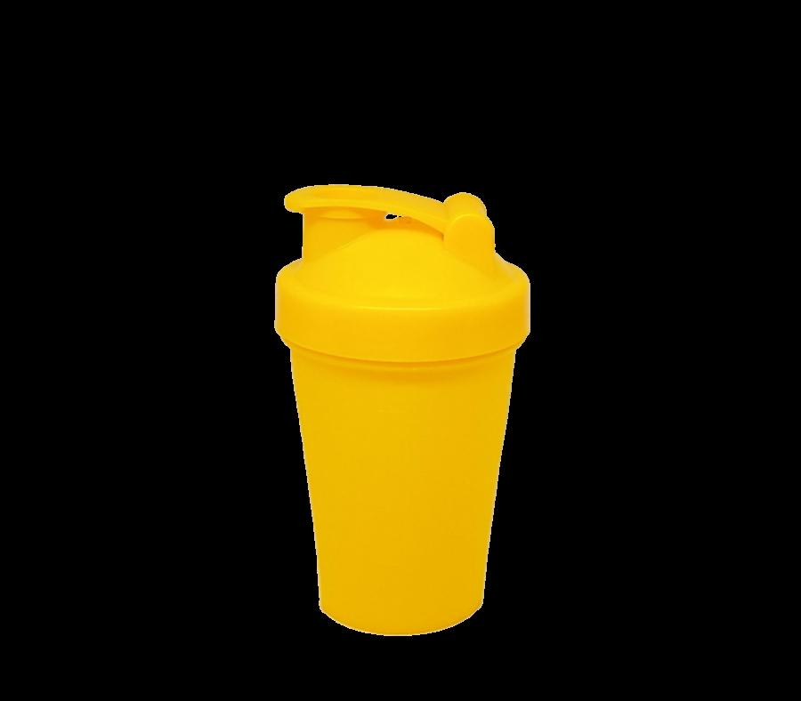 Шейкер 400 мл жёлтый
